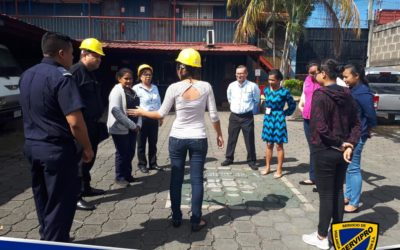 Training staff in evacuation plans
