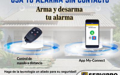 Reduzca el riesgo de contagio, usa tu alarma sin contacto directo a tu teclado de mando.