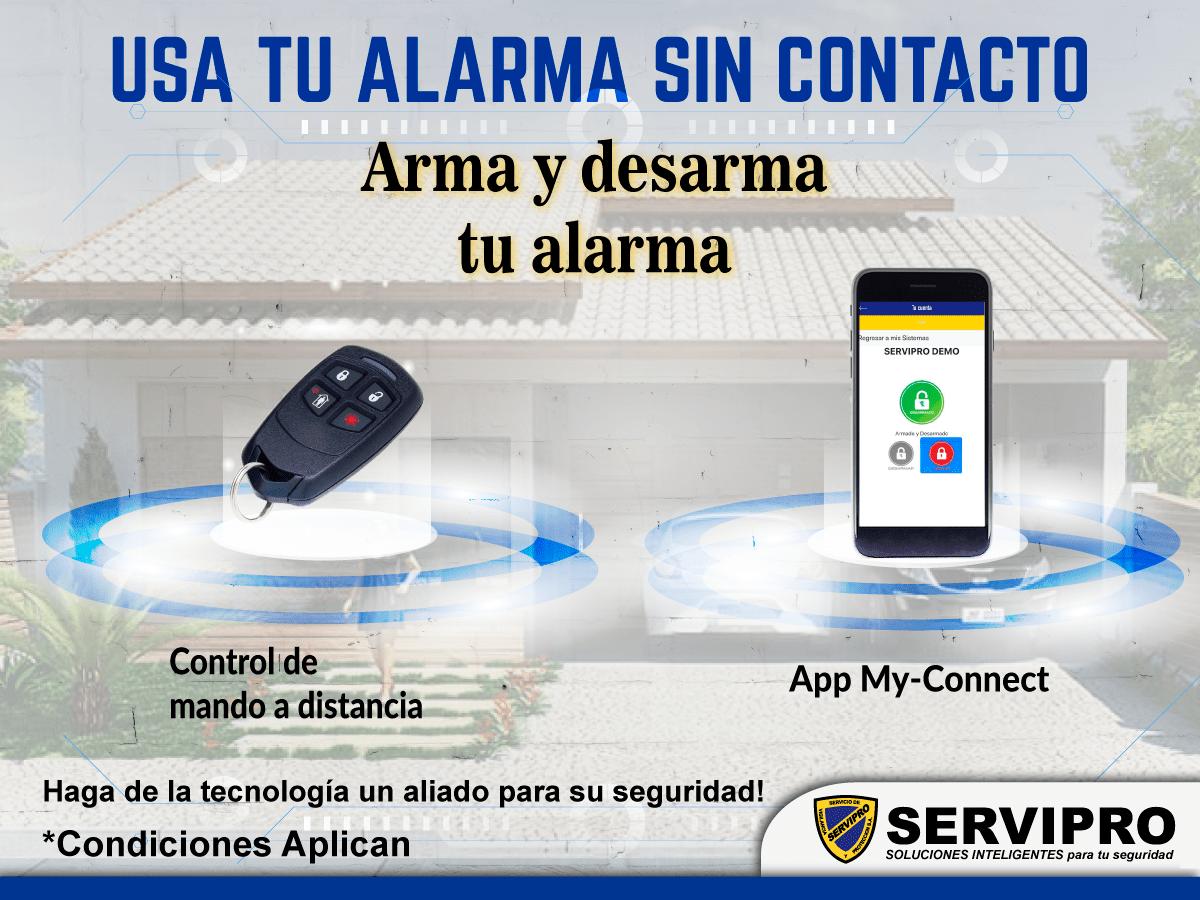 Usa tu alarma sin contacto directo